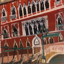 olio su cartone- Scorcio di Venezia